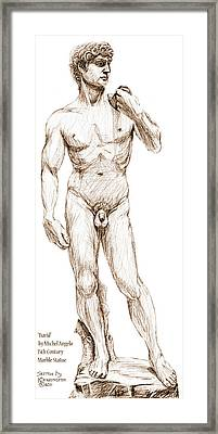 David Sketch Framed Print by Khaila Derrington