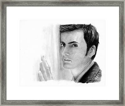 David Tennant 2 Framed Print by Rosalinda Markle