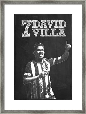 David Villa Framed Print by Semih Yurdabak