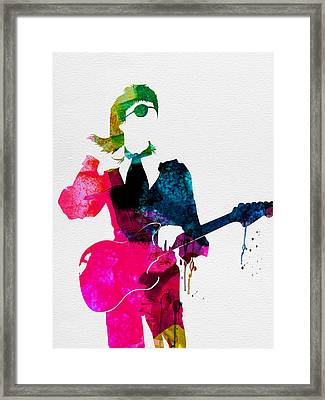 David Watercolor Framed Print by Naxart Studio