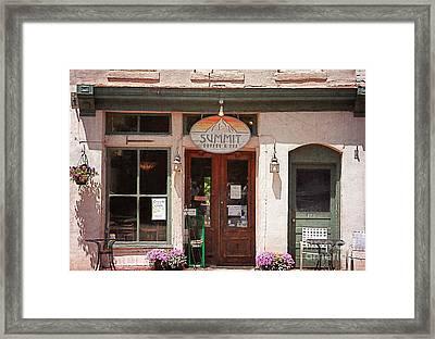Davidson North Carolina Coffee Shop Framed Print