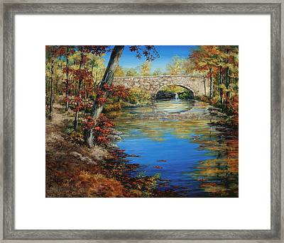 Davies Bridge In November Framed Print