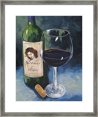 Davinci Chianti For One   Framed Print by Torrie Smiley