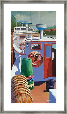 Davis Creek Boats Framed Print by Hugh Harris