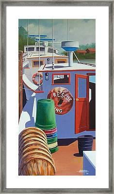 Davis Creek Boats Framed Print by Hugh Harris