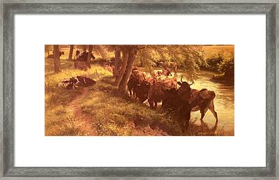 Davis Henry William Banks A Shady Spot On A Summers Day Framed Print