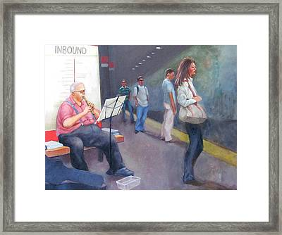 Davis Sq. Cambridge Framed Print