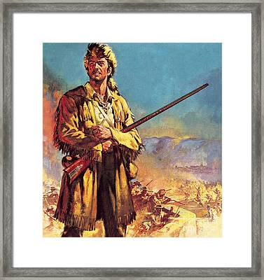 Davy Crockett  Hero Of The Alamo Framed Print