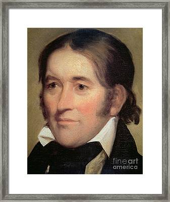 Davy Crockett  Framed Print
