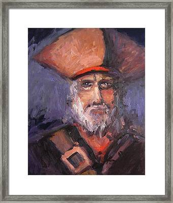 Davy Jones Before The Tentacles Framed Print by R W Goetting