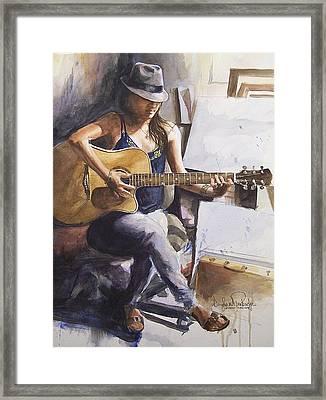 Dawb Leej - Studio Serenade Framed Print by Douglas Trowbridge