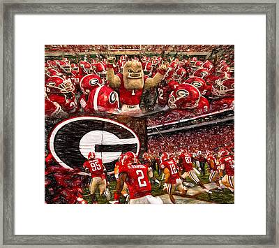 Dawgs 2015 Collage Framed Print