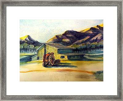 Dawn Along Hiway 33 Framed Print by Steven Holder