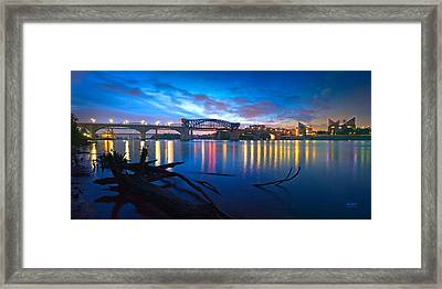 Dawn Along The River Framed Print