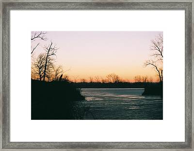Dawn At Agate Lake Framed Print by C E McConnell