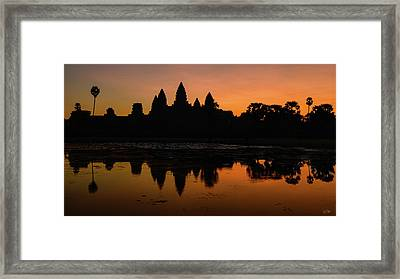 Framed Print featuring the photograph Dawn At Angkor Wat by Stuart Gordon
