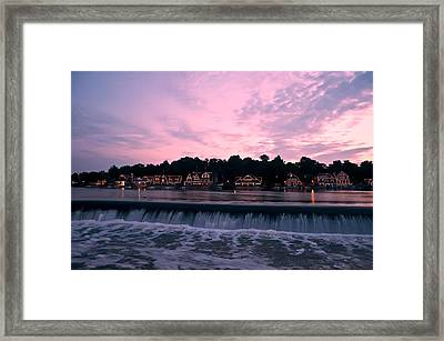Dawn At Boathouse Row Framed Print by Bill Cannon