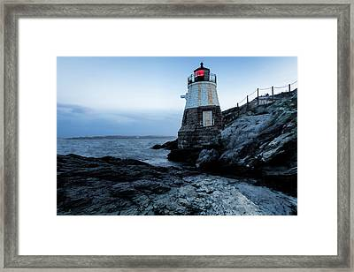 Framed Print featuring the photograph Dawn At Castle Hill Lighthouse by Andrew Pacheco