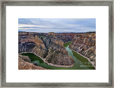 Dawn At Devils Overlook Bighorn Canyon Framed Print