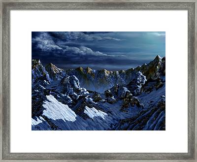 Framed Print featuring the digital art Dawn At Eagle's Peak by Curtiss Shaffer