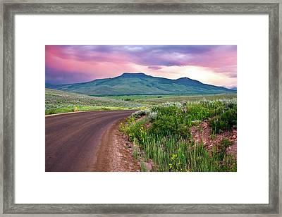 Dawn At Flattop Mountain Framed Print