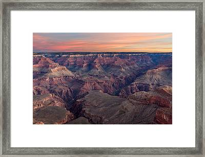Dawn At Grand Canyon Framed Print