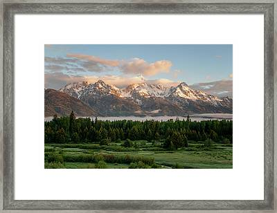 Dawn At Grand Teton National Park Framed Print