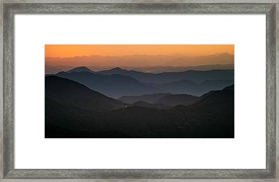 Dawn At Jirisan Framed Print by Ng Hock How