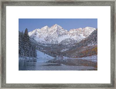 Framed Print featuring the photograph Dawn At Maroon Bells 2 by Jemmy Archer