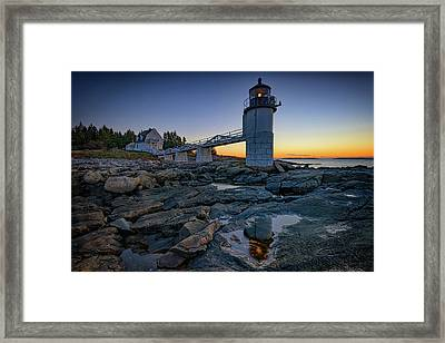 Dawn At Marshall Point Framed Print by Rick Berk