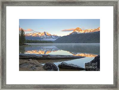 Dawn At Redfish Framed Print