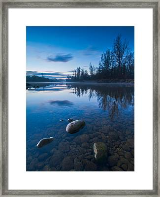 Dawn At River Framed Print