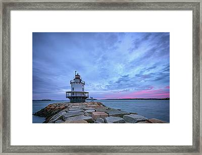 Dawn At Spring Point Ledge Lighthouse Framed Print