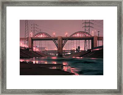 Dawn At The 6th Street Bridge Framed Print by Kevin  Break