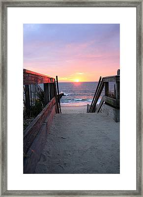 Dawn At The Beach Framed Print by Mary Haber