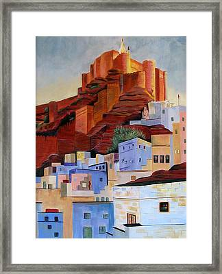 Dawn At The Fort In Jodhpur  Framed Print