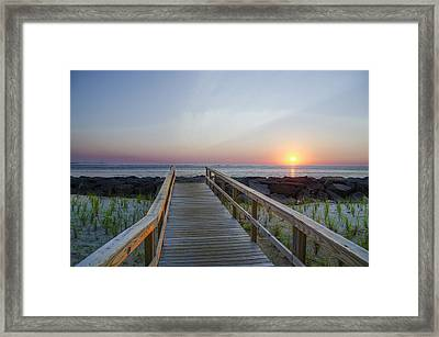 Dawn At Townsends Inlet Framed Print by Bill Cannon