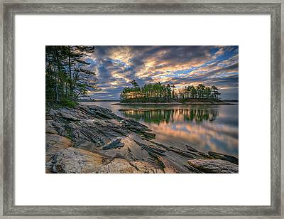 Dawn At Wolfe's Neck Woods Framed Print by Rick Berk