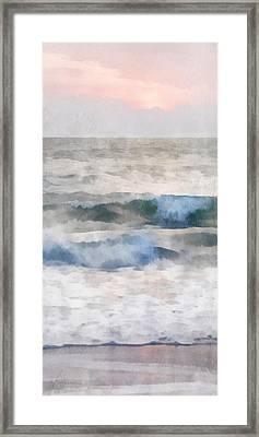 Framed Print featuring the digital art Dawn Beach by Francesa Miller
