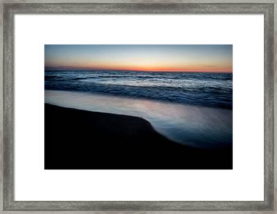 Dawn Beach Scene Framed Print by Sven Brogren