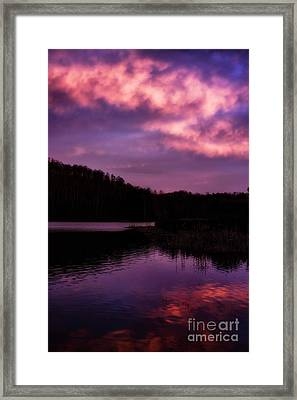 Framed Print featuring the photograph Dawn Big Ditch Wildlife Management Area by Thomas R Fletcher