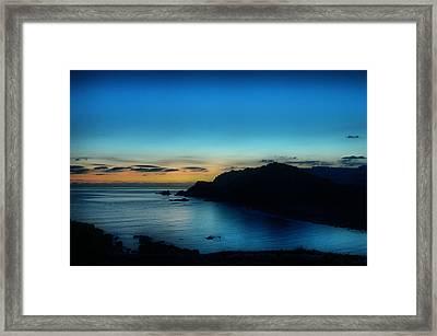 Dawn Blue In Mediterranean Island Of Minorca By Pedro Cardona Framed Print