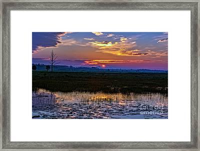 Dawn Breaking Over Saint Marks Framed Print