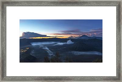 Framed Print featuring the photograph Dawn Breaking Scene Of Mt Bromo by Pradeep Raja Prints
