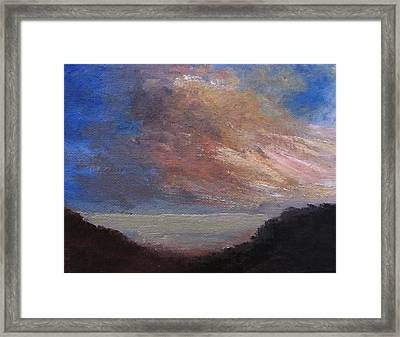 Dawn Breaks Framed Print