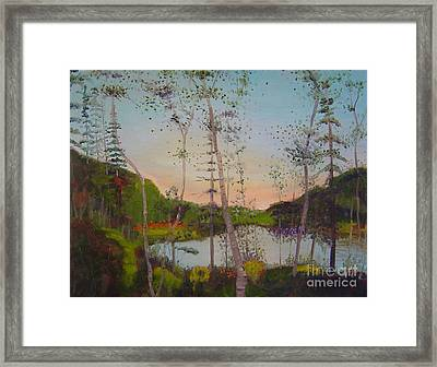 Dawn By The Pond Framed Print by Lilibeth Andre