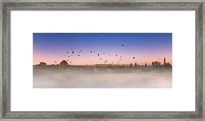 Dawn, Cappadocia Framed Print by Marji Lang