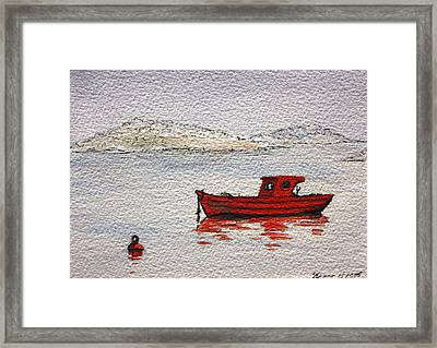 Dawn Fishing Framed Print by Yvonne Ayoub