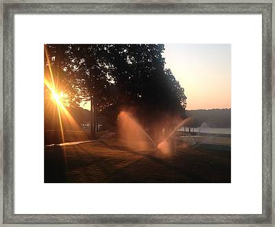Dawn Golf Course Framed Print