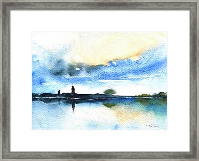 Dawn In Lindau On Lake Constance Framed Print
